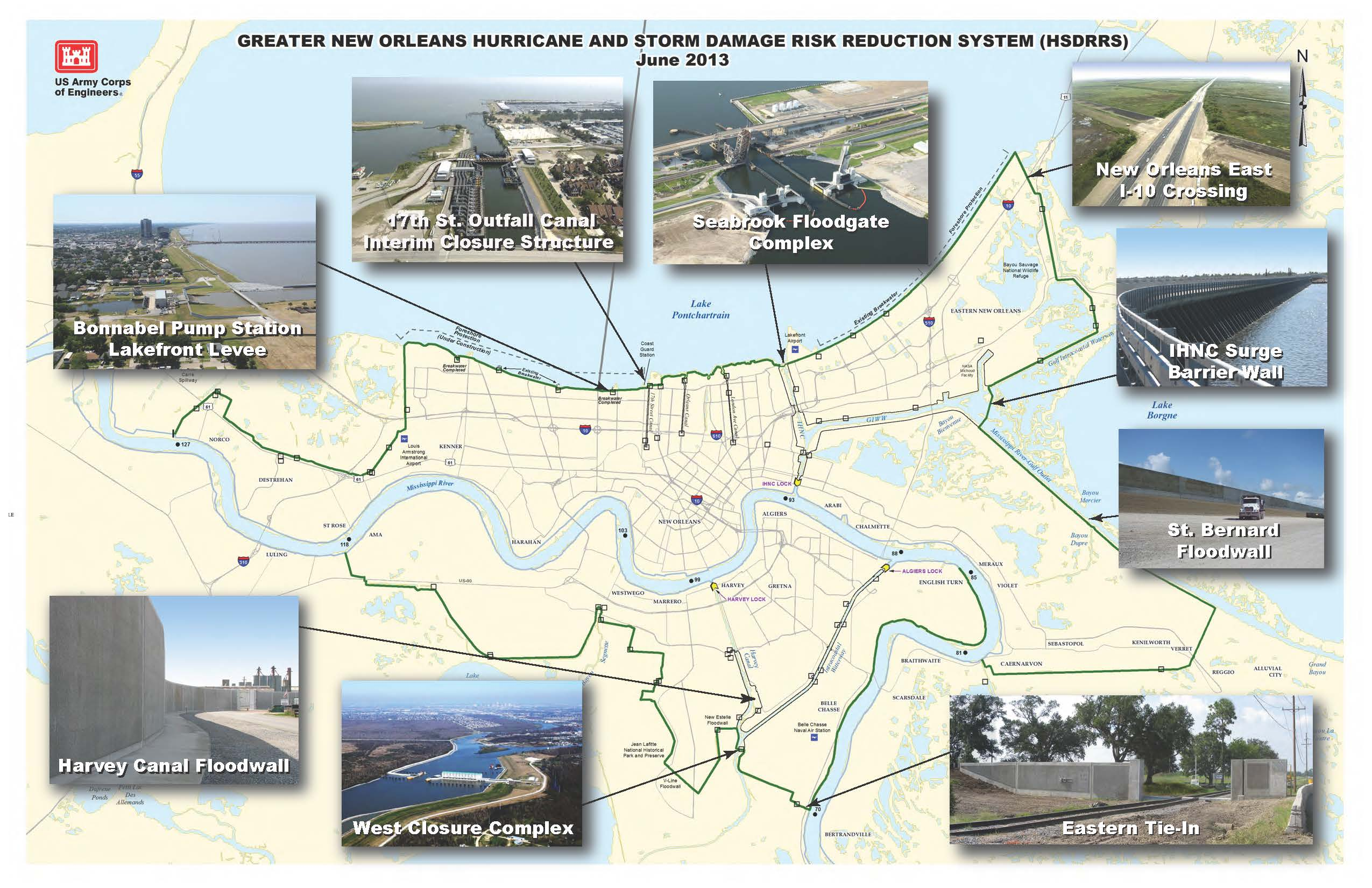 New Orleans District Missions HSDRRS - Hurricane danger map of the us
